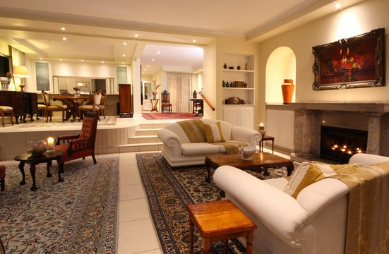 Lounge towards dining room, The Penthouse, Hermanus Beach Front Lodge