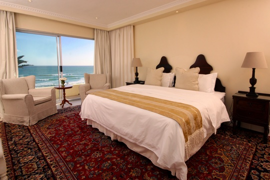 Bedroom, The Penthouse, Hermanus Beach Front Lodge
