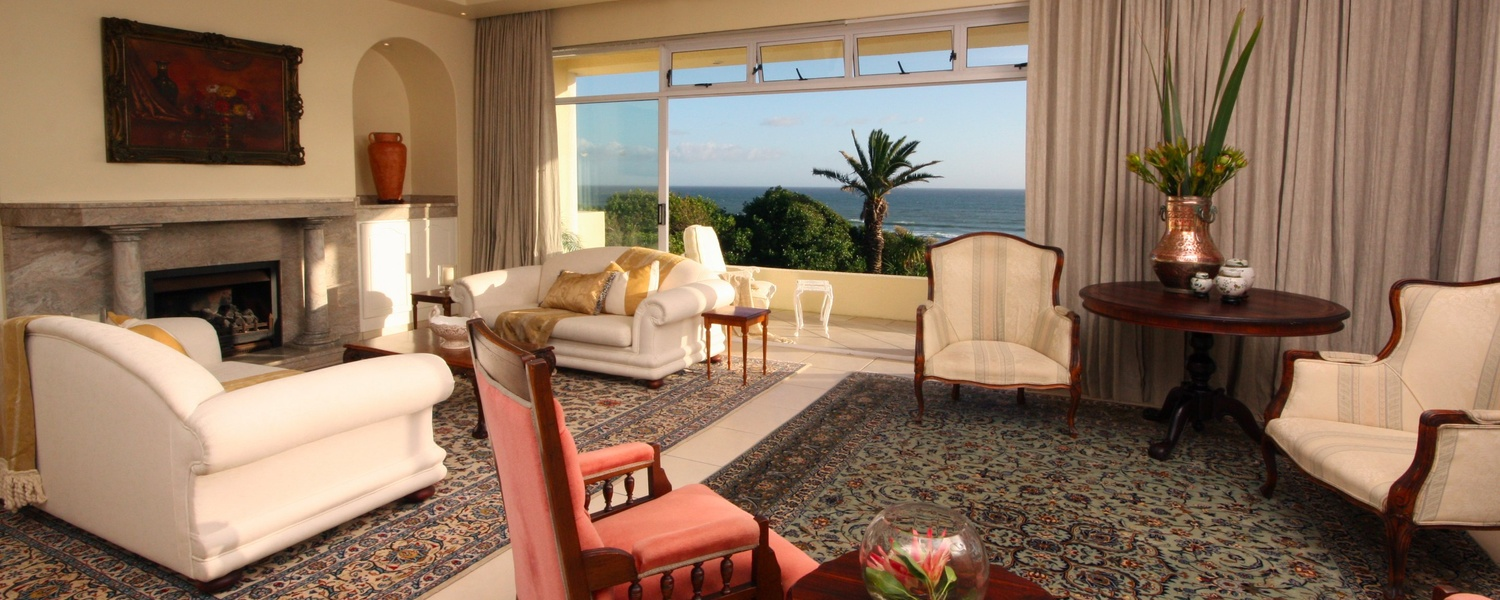 Lounge with view, The Penthouse, Hermanus Beach Front Lodge
