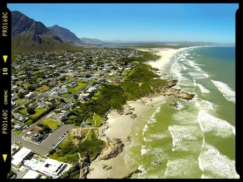 Aerial View of Voeklip, Hermanus Beach Front Lodge